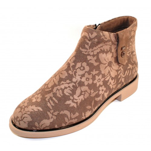 Beautifeel Women's Montana In Ecru Suede/3D Chantilly Suede