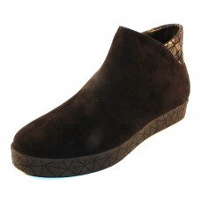 Beautifeel Women's Nana In Black Suede/Origami Embossed Suede
