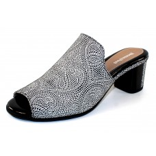 Beautifeel Women's Raine In Black/White Mosaic Embossed Suede