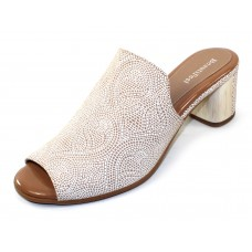 Beautifeel Women's Raine In Nude/White Mosaic Embossed Suede