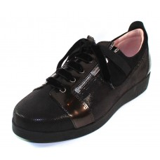 Beautifeel Women's Renata In Black Glitter Printed Suede/Pearlized Leather