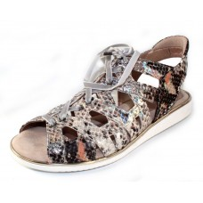 Beautifeel Women's Siena In Silver Snake Printed Leather