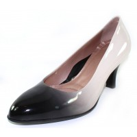 Beautifeel Women's Topaz In Black/White Degrade Patent Leather