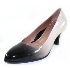 Beautifeel Women's Topaz In Black/White Degrade Patent Leather