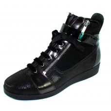 Beautifeel Women's Willow In Black Glitter Printed Suede/Suede/Patent Leather