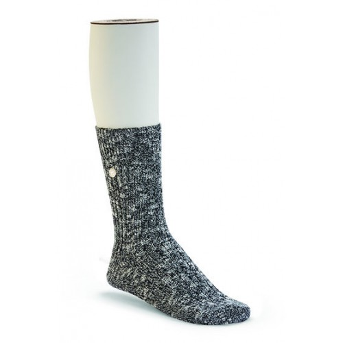 Birkenstock Cotton Slub Sock In Black/Grey Cotton