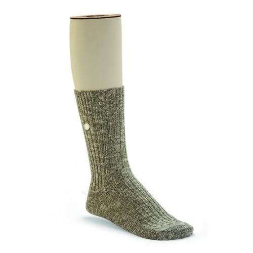 Birkenstock Cotton Slub Sock In Grey Cotton