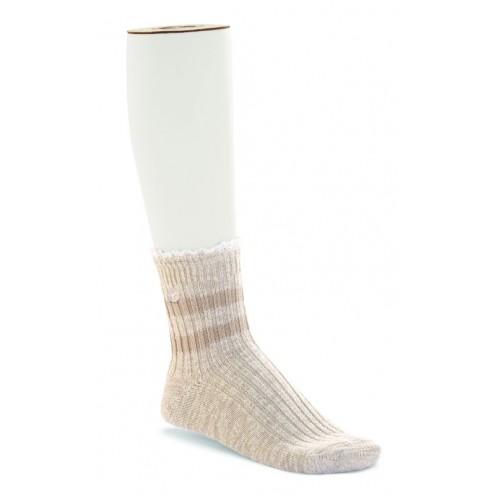 Birkenstock Fashion Slub Sock In Beige Lace