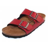 Birkenstock Women's Arizona In Bordeaux Pullup Birko-Flor