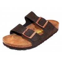 Birkenstock Women's Arizona In Mocha Suede