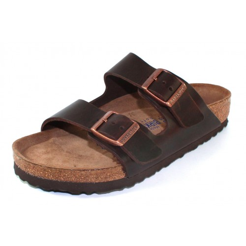 Birkenstock Men's Arizona Soft Footbed In Brown Amalfi Leather