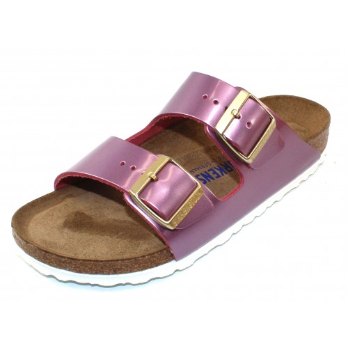 Birkenstock Women's Arizona Soft Footbed In Spectacular Rose Leather