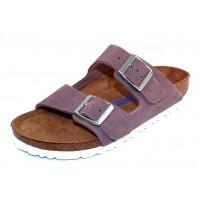 Birkenstock Women's Arizona Soft Footbed In Lavender Suede
