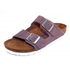 Birkenstock Women's Arizona Soft Footbed In Lavender Suede