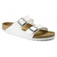 Birkenstock Women's Arizona In White Birko-Flor
