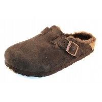 Birkenstock Women's Boston Shearling In Mocha Suede