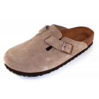 Birkenstock Women's Boston In Taupe Suede