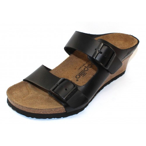 Birkenstock Women's Emina By Papillio In Black Leather