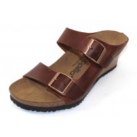 Birkenstock Women's Emina By Papillio In Cognac Leather