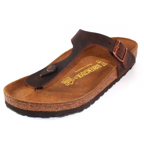 Birkenstock Women's Gizeh In Habana Oiled Leather