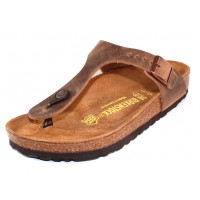 Birkenstock Women's Gizeh In Tobacco Oiled Leather