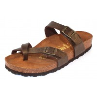Birkenstock Women's Mayari In Golden Brown Pearlized Birko-Flor