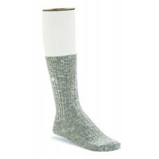 Birkenstock Cotton Slub Sock In Gray/White Cotton