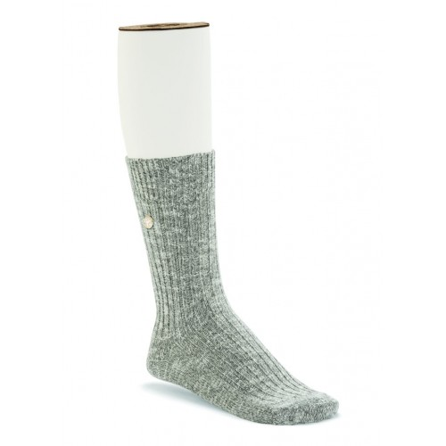 Birkenstock Cotton Slub Sock In Gray/White Cotton