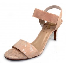 Bruno Magli Women's Daphne In Blush Nude Hailey Embossed Suede/Metallic Highlights