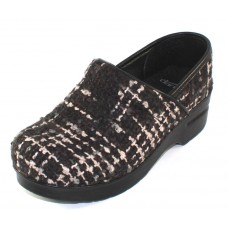Dansko Women's Fabric Pro In Black Textured Wool Fabric