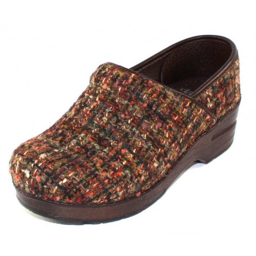 Dansko Women's Fabric Pro In Brown Textured Wool Fabric