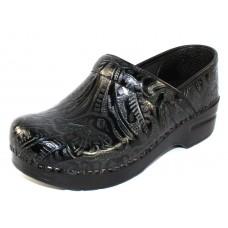 Dansko Women's Professional In Black Tooled Leather