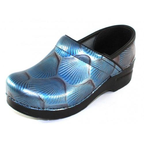 Dansko Women's Professional In Blue Shell Patent Leather