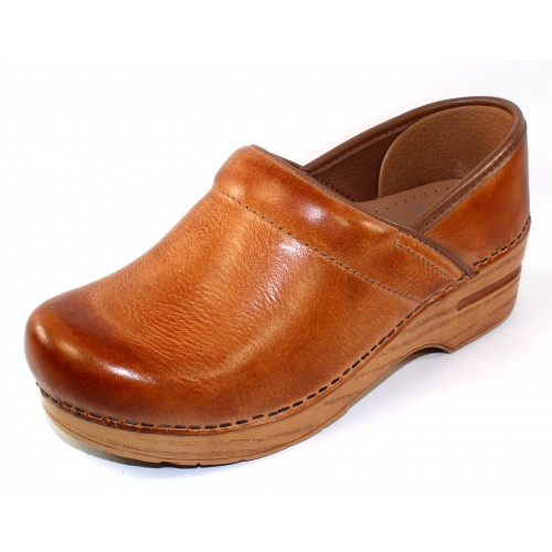 Dansko Women's Professional In Honey Distressed Natural Leather