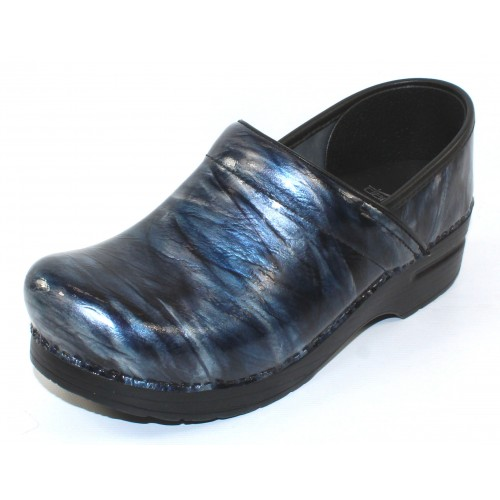 Dansko Women's Professional In Navy Crinkle Patent Leather