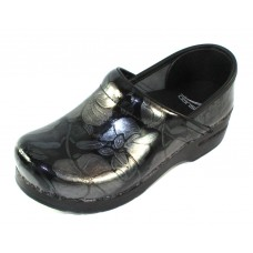 Dansko Women's Professional In Pewter Floral Patent Leather