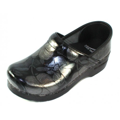 8e0aa0bf232c Dansko Women's Professional In Pewter Floral Patent Leather