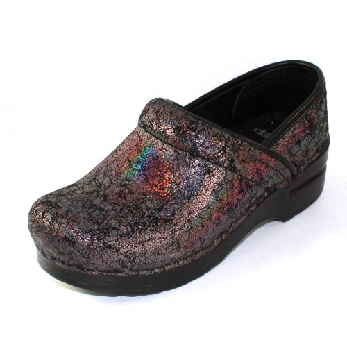 Dansko Women's Professional In Pewter Iridescent Embossed Leather