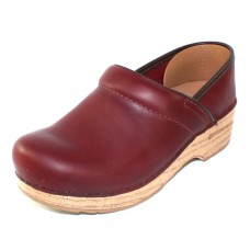 Dansko Women's Professional In Red Antiqued Oiled Leather