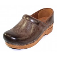 Dansko Women's Professional In Stone Distressed Natural Leather