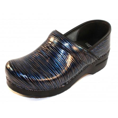 Dansko Women's Professional In Wavy Stripes Patent Leather