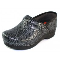Dansko Women's Professional Xp In Black Medallion Embossed Patent Leather