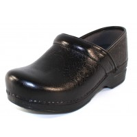 Dansko Women's Professional Xp In Black Floral Tooled Leather