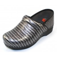 Dansko Women's Professional Xp In Grey Herringbone Patent Leather