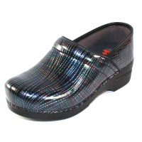 Dansko Women's Professional Xp In Multi Crisscross Patent Leather