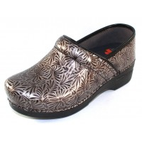 Dansko Women's Professional Xp In Silver Ornate Patent Leather