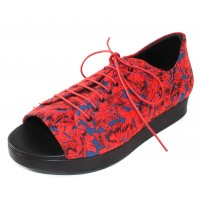 Fausto Santini Women's Arguzia In Rosso Red Flower Embroidered Flower Print Fabric