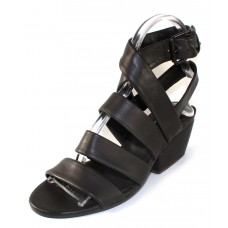 Fausto Santini Women's Bibita In Anthracite Lamb Leather