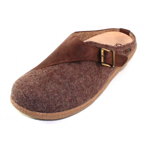 Giesswein Men's Brixlegg In Taupe Boiled Wool/Leather