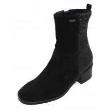 Hogl Women's 104662 In Black Dry Velour Suede/Goretex Waterproof Lining 0100